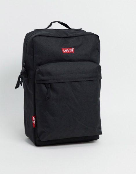 Levi's - Schwarzer Backpack mit kleinem Batwing-Logo