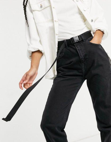 Monki Yrsa - Gürtel mit Clipverschluss in Schwarz