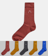 New Look - 5er-Pack buntfarbige Socken-Mehrfarbig