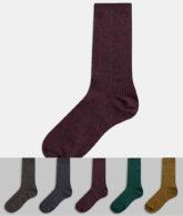 New Look - Mehrfarbige Socken aus Grindle-Garn, 5er-Pack