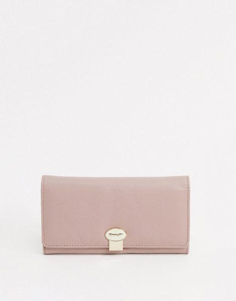 Paul Costelloe - Claire - Hellrosafarbenes Leder-Portemonnaie mit Umschlagklappe