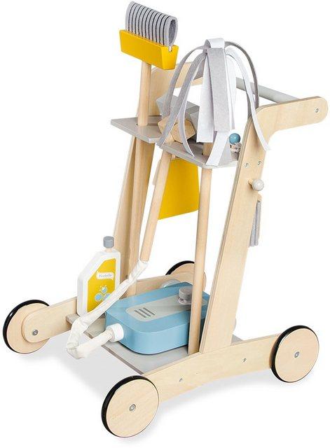 """Pinolino® Kinder-Putzwagen """"Pia"""", (7-tlg), aus Holz"""