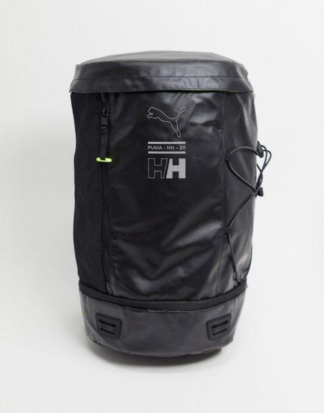Puma x Helly Hansen - Großer Rucksack in Schwarz mit Logo