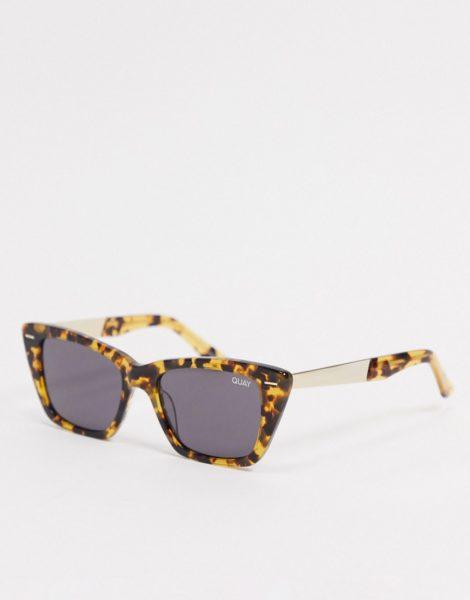 Quay - Prove It - Cat-Eye-Sonnenbrille für Damen in Schildpatt-Optik-Braun