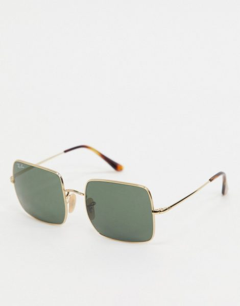 Ray-Ban - Eckigee Sonnenbrille, Goldfarben, ORB1971