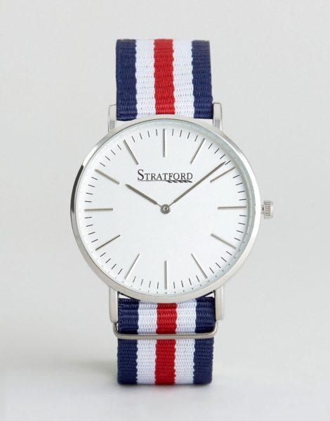 Stratford - Uhr mit Leinenarmband-Mehrfarbig