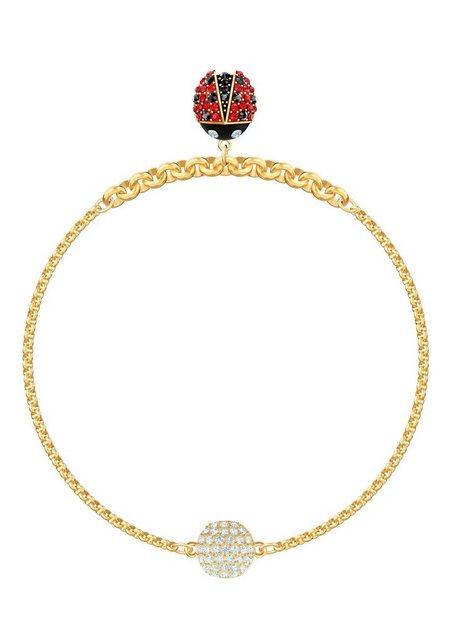 "Swarovski Armband ""Swarovski Remix Collection Ladybug Strand, mehrfarbig, vergoldet, 5466832 M, 5479018 L"", mit Swarovski® Kristallen"