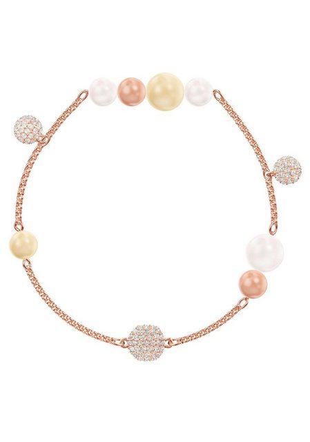 "Swarovski Armband ""Swarovski Remix Collection Pearl Strand, mehrfarbig, rosé Vergoldung, 5464297 M, 5479007 L"", mit Swarovski® Perlen und Swarovski® Kristallen"