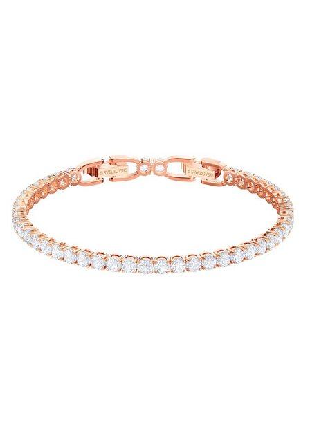 """Swarovski Armband """"Tennis, weiss, rosé Vergoldung, 5464948"""", mit Swarovski® Kristallen"""