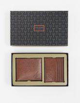 Ted Baker - Geschenkset mit Geldbörse und Kartenhalter-Bronze