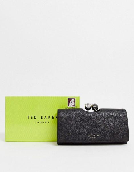 Ted Baker - Solange tb - Matinee-Geldbörse mit Pavé-Kugelverschluss-Schwarz