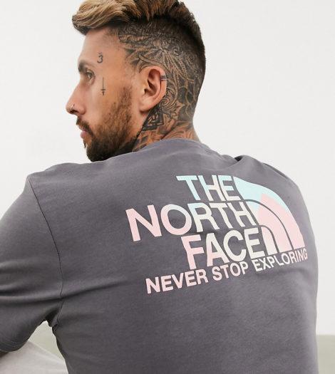 The North Face - Spray - T-Shirt in Grau, exklusiv bei ASOS