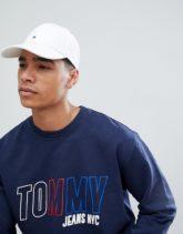 Tommy Hilfiger - Klassische, weiße Baseball-Kappe mit Flagge