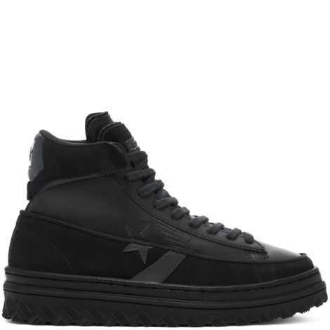 Unisex Black Ice Pro Leather X2 High Top Black