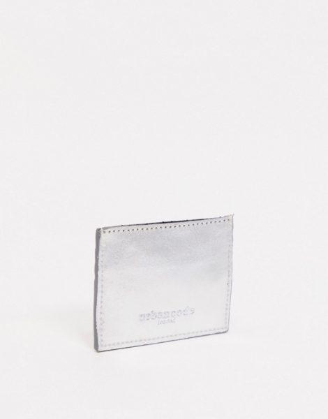 Urbancode - Kartenetui aus Leder in Metallic-Mix-Mehrfarbig