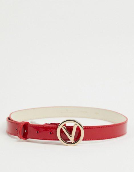 Valentino by Mario Valentino - Roter Gürtel mit rundem Logo