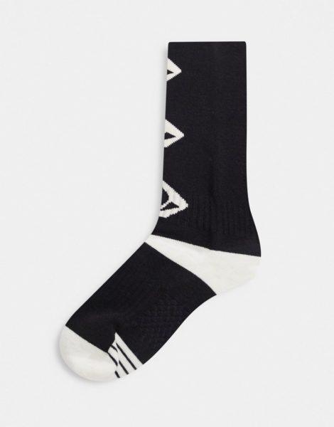 Volcom - Lodge - Schwarze Socken mit Logo