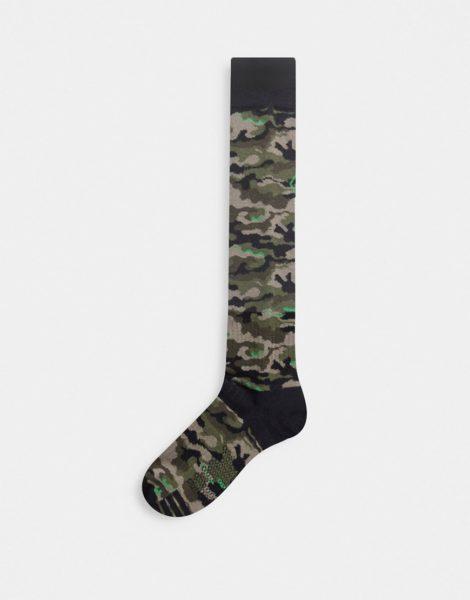 Volcom - Synth - Grüne Socken mit Military-Muster