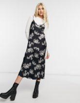 AllSaints - Hera Jasmine - Kleid in Schwarz und Weiß-Mehrfarbig