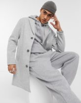 Bershka - Mantel aus Jersey in Grau