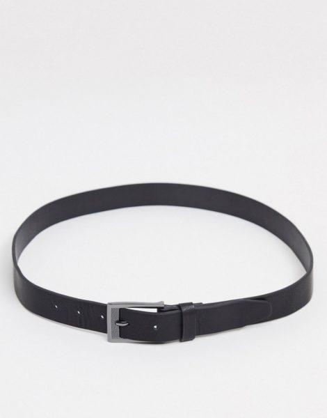 Burton Menswear - Schwarzer Gürtel mit Schnalle
