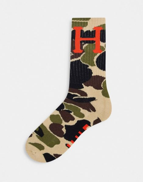 HUF - Socken mit Military-Muster in Hellbraun-Bronze