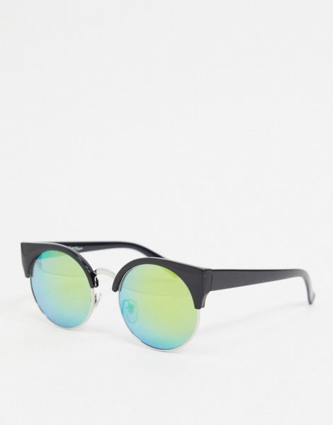 Jeepers Peepers - Runde Sonnenbrille in Schwarz