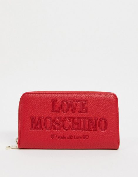 Love Moschino - Essential - Geldbörse in Rot