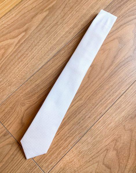 Moss London - Strukturierte Krawatte in Weiß