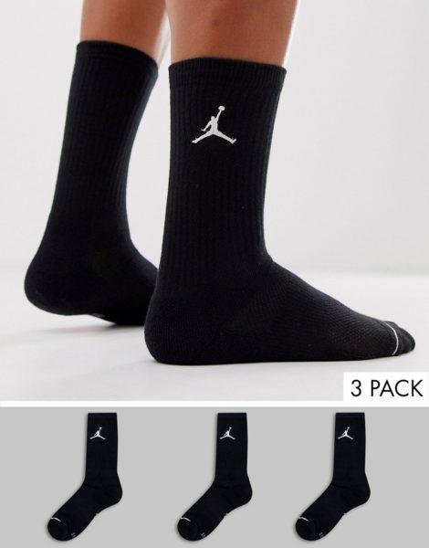 Nike Jordan - 3er-Pack Socken in Schwarz mit Logo