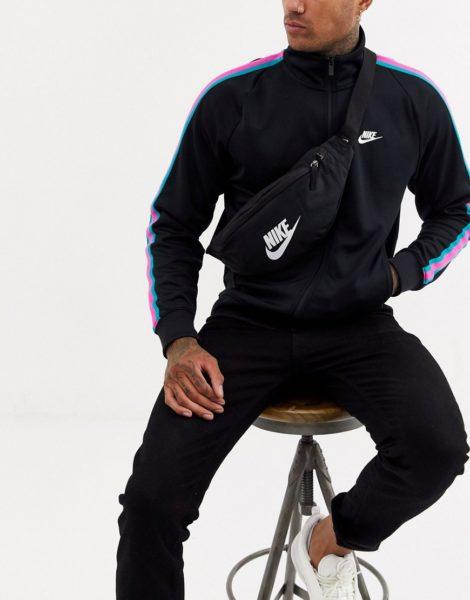 Nike - Schwarze Heritage-Gürteltasche