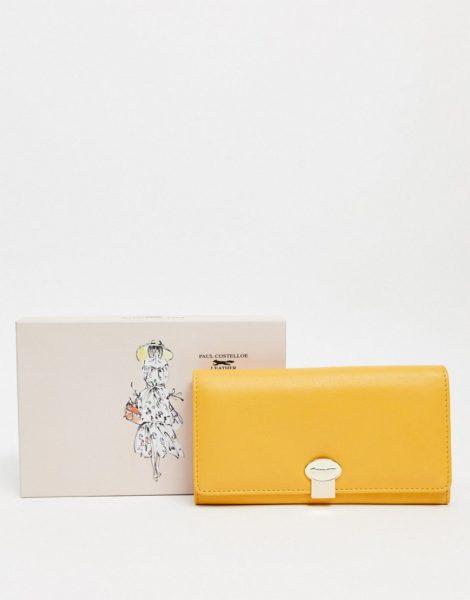 Paul Costelloe - Claire - Gelbes Leder-Portemonnaie mit Umschlagklappe