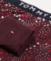 Tommy Hilfiger - Boxershorts und Socken in Rot mit Logo im Set