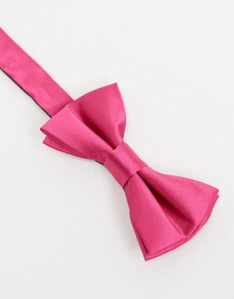 Twisted Tailor - Fliege aus Satin in Pink-Rosa