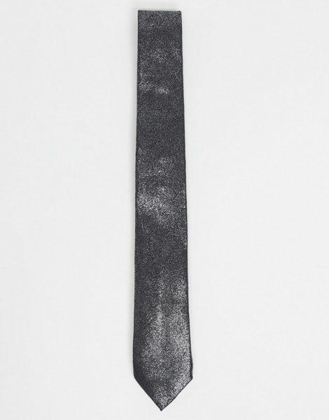 Twisted Tailor - Krawatte mit Silberfolie im Used-Look