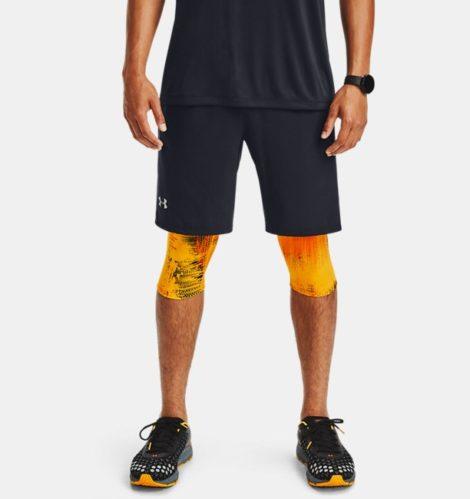 Under Armour Herren UA Launch SW Lange 2-in-1-Shorts mit Aufdruck Schwarz LG