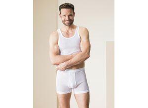 Walbusch Herren Lufttrikot Shorts 2er Pack einfarbig Weiß