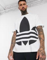 adidas Originals - Blown Up - Weißes T-Shirt mit Dreiblatt