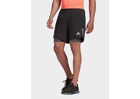 adidas Own the Run Two-in-One Shorts - Black / Grey Six - Herren, Black / Grey Six
