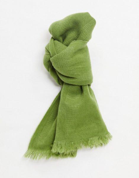 ASOS DESIGN - Leichter Schal in Khaki-Grün