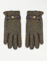 Boardmans - Handschuhe aus Leder und Tweed-Grün