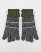 Boardmans - Handschuhe mit Muster-Grau