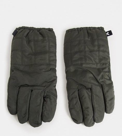 COLLUSION Unisex - Wattierte Handschuhe-Grün