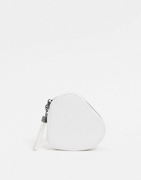 Claudia Canova - Herzförmige Münzgeldbörse in Weiß