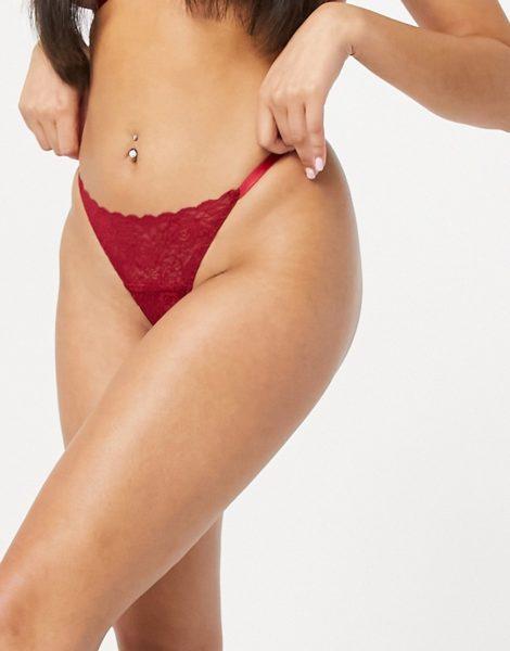 Coco De Mer - Muse Marilyn - G-Stringtanga aus elastischer Spitze in Rot