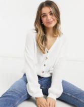 Cotton:On - Strickjacke mit fallenden Ärmeln in Creme