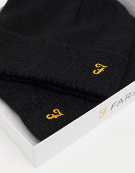 Farah - Hut und Schal im Set-Schwarz