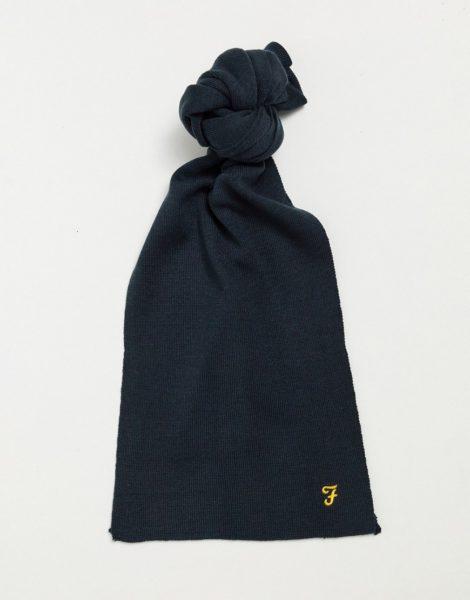 Farah - Schal mit Logo-Marineblau