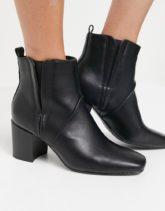 Glamorous - Chelsea-Stiefel mit Absatz in Schwarz