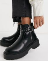 Glamorous - Klobige Ankle-Boots in Schwarz